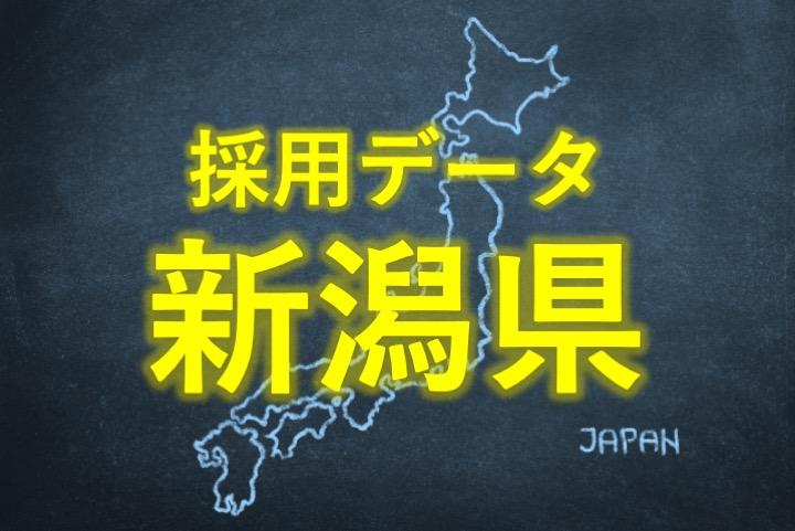 中小企業の採用データ新潟県